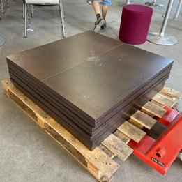 Workbrands RWC   Vierkant tafelblad   Hout   B 90 x D 90 cm