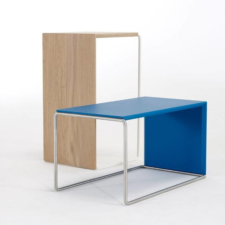 OUTLET | Arco Setup 1 | 56 x 32 x 30 cm | Hellgrau stahl | White wash eiche