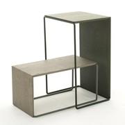 OUTLET | Arco Setup 2 | 56 x 56 x 30 cm | Roze staal | Roze eiken