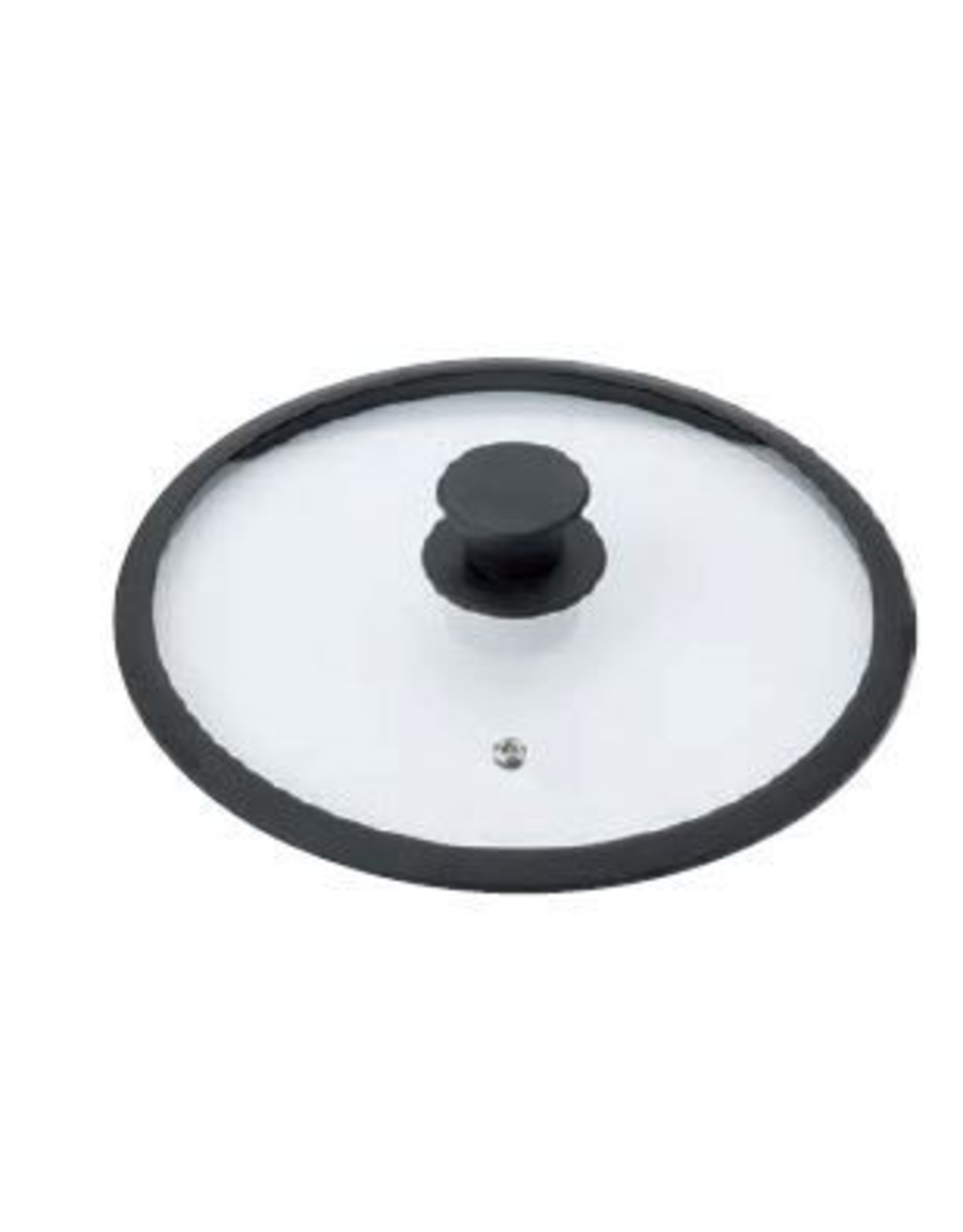 Braet Mooie 16 cm glasdeksel met siliconen rond voor steelpan.