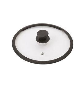 Braet Schöner Glasdeckel 24 cm mit Silikonkante und Knopf speziell für Induktionspfannen