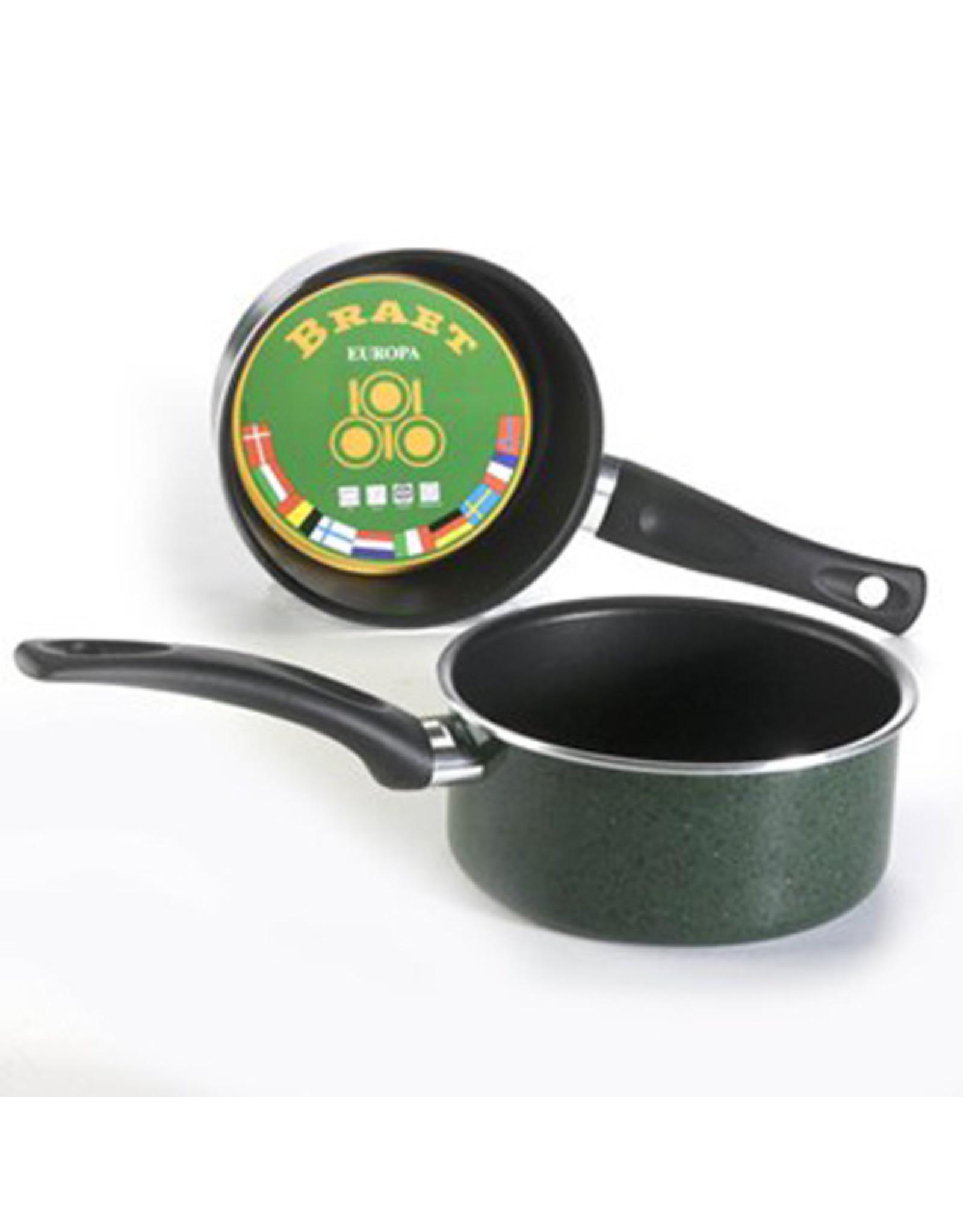Braet Steelpan met leisteen laag voor o.a. sauzen. Maakt heel makkelijk weer schoon.