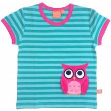 Lipfish shirt Owl aqua streep