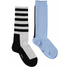 Molo knee socks Power Blue (2-pack)