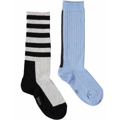 Molo knee socks Power Blue (2-pack)