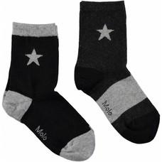 Molo sokken Grey Melange (2-pack)