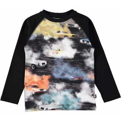 Molo shirt Burnout ls black