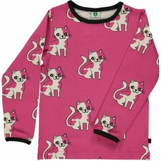 Smafolk shirt Cat pink