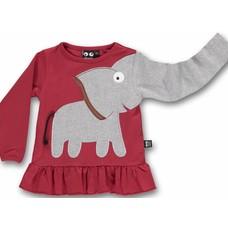 Ubang shirt Elephant frill red