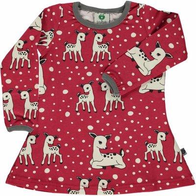 Smafolk jurk Deer rood