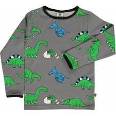 Smafolk shirt Dino grijs ls