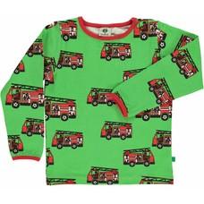 Smafolk shirt Firetruck groen