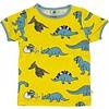 Smafolk shirt Dino yellow ss