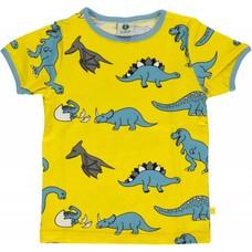 Smafolk shirt Dino geel ss