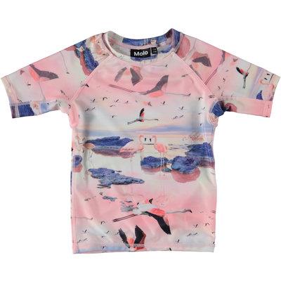 Molo swim shirt Flamingo