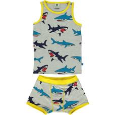 Smafolk ondergoedset Shark grijs