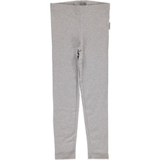 Maxomorra Light Gray Melange leggings