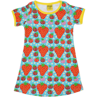 Duns Sweden jurk Strawberry Field turquoise