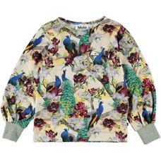 Molo shirt Oriental Peacocks
