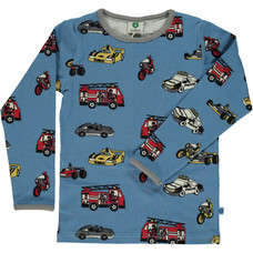 Smafolk shirt Cars winter blue