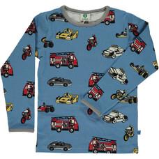 Smafolk shirt Cars winter blue