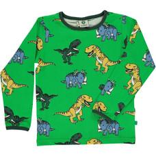 Smafolk shirt Dinosaur green