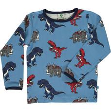 Smafolk shirt Dinosaur blue