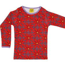 Duns Sweden shirt Poinsettia wine