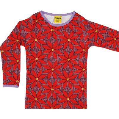 Duns Sweden shirt Poinsettia wine