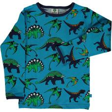 Smafolk shirt Dinosaur oceanblue