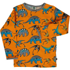 Smafolk shirt Dinosaur orange