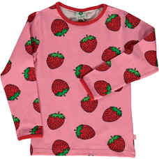 Smafolk shirt Strawberries seapink