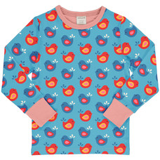 Maxomorra shirt Bright Birds ls