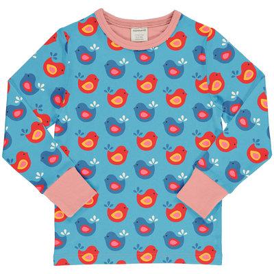 Maxomorra shirt Bright Birds ls