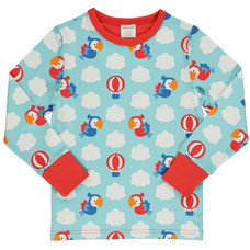 Maxomorra shirt Parrot Safari ls
