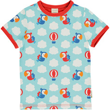 Maxomorra shirt Parrot Safari ss