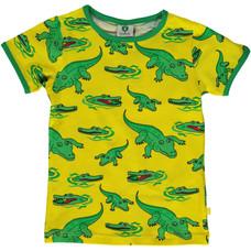 Smafolk shirt Crocodile geel