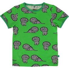 Smafolk shirt Dinosaur groen