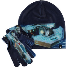 Molo winter set Past Now Future (gloves + hat)