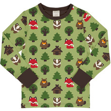 Maxomorra shirt Green Forest ls