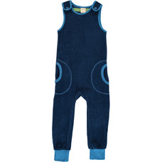 Maxomorra playsuit Navy velours