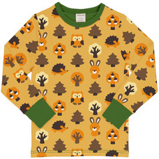 Maxomorra shirt Yellow Forest