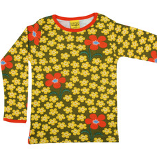 Duns Sweden shirt Flower Olive