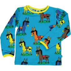Smafolk shirt Donkey ocean blue