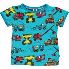 Smafolk shirt Machines blue atoll ss