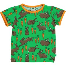 Smafolk shirt Hare and Carrot green ss