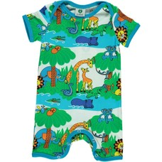 Smafolk summersuit Jungle ocean blue