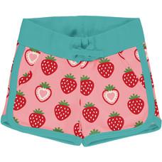 Maxomorra runner shorts Strawberry sweat