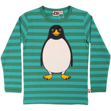 DYR shirt ls Pingvin coldgreen/lagoon
