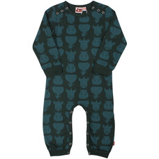 DYR jumpsuit Tykhuder blackgreen/greyblue